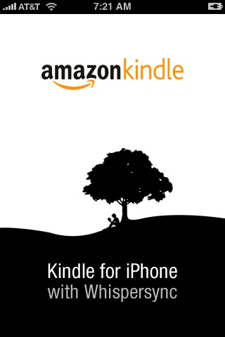 Title screen for Kindle on the iPhone
